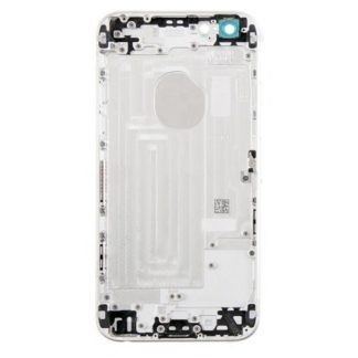 new styles ae152 52e68 iPhone 6 rear housing no parts with logo - Silver
